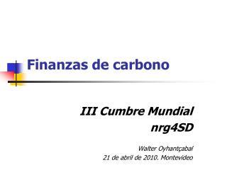 Finanzas de carbono