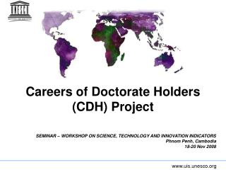 Careers of Doctorate Holders (CDH) Project