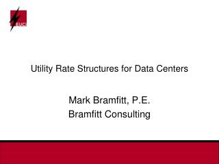 Utility Rate Structures for Data Centers