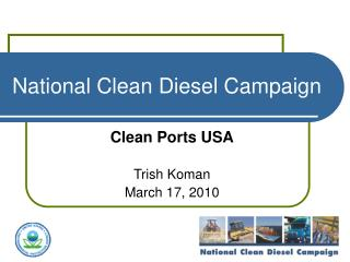 National Clean Diesel Campaign