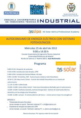 DIRIGIDO A: Profesionales del sector fotovoltaico