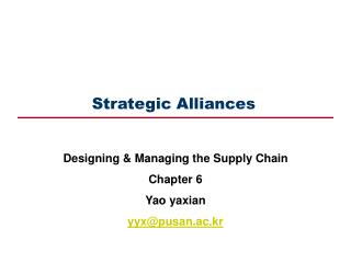 Strategic Alliances