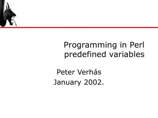 Programming in Perl predefined variables