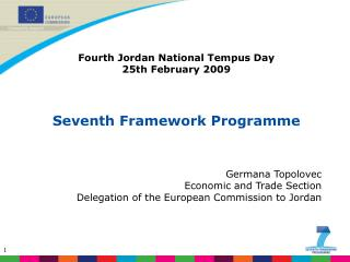 Fourth Jordan National Tempus Day 25th February 2009 Seventh Framework  Programme