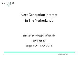 Next Generation Internet in The Netherlands