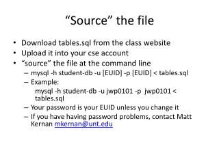"""""""Source"""" the file"""