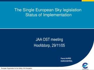 The Single European Sky legislation  Status of Implementation