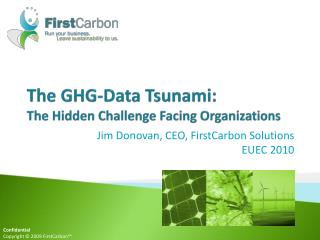 The GHG-Data Tsunami:  The Hidden Challenge Facing Organizations