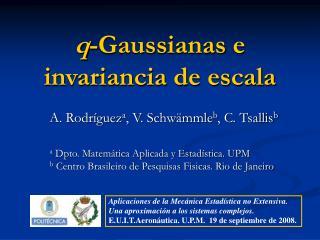 q -Gaussianas e invariancia de escala