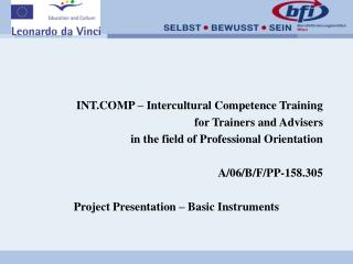 INT.COMP – Intercultural Competence Training for Trainers and Advisers