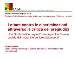 Lottare contro le discriminazioni  attraverso la critica dei pregiudizi