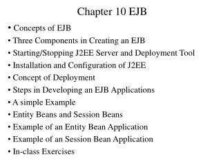 Chapter 10 EJB