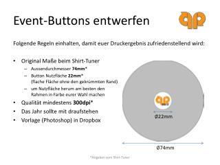 Event-Buttons entwerfen
