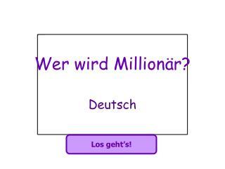 Wer wird Million�r?