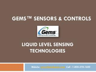 GemsSensors | Level Sensing