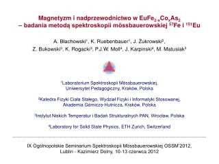 Magnetyzm i nadprzewodnictwo w EuFe 2-x Co x As 2