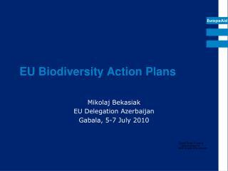 EU Biodiversity Action Plans