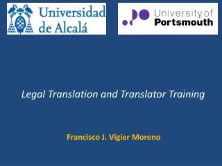 Legal Translation and Translator Training