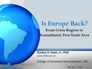 Gordon H. Dash, Jr., PhD GHDash