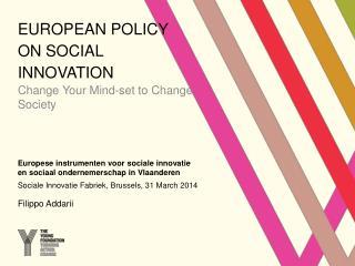 European Policy on Social innovation