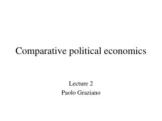 Comparative political economics
