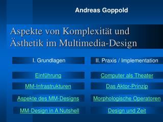 Aspekte von Komplexität und Ästhetik im Multimedia-Design