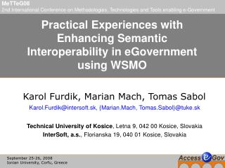 Practical Experiences with Enhancing Semantic Interoperability in eGovernment using WSMO