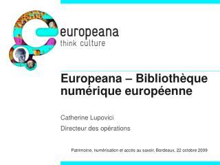 Europeana – Bibliothèque numérique européenne