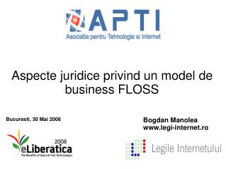 Aspecte juridice privind un model de business FLOSS