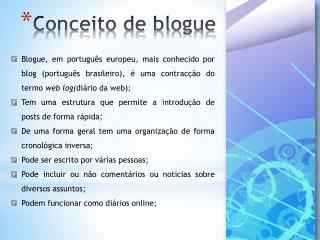 Conceito de blogue