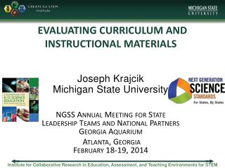 EVALUATING CURRICULUM AND INSTRUCTIONAL MATERIALS