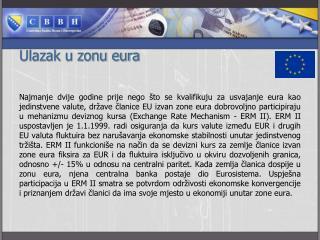 Ulazak u zonu eura