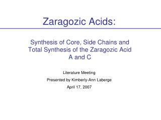 Zaragozic Acids: