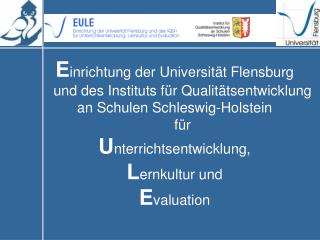 E inrichtung der Universität Flensburg
