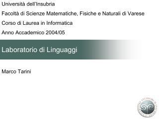 Laboratorio di Linguaggi