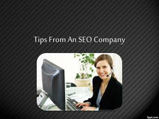 Tips From An SEO Company