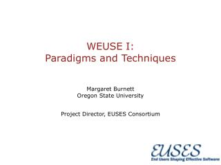 WEUSE I: Paradigms and Techniques