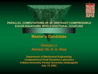 PARALLEL COMPUTATIONS OF 3D UNSTEADY COMPRESSIBLE EULER EQUATIONS WITH STRUCTURAL COUPLING