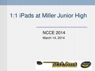 1:1 iPads at Miller Junior High