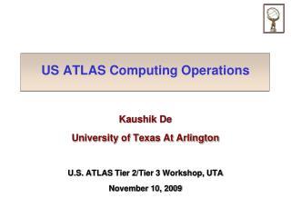 US ATLAS Computing Operations