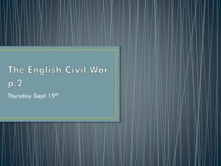 The English Civil War p.2