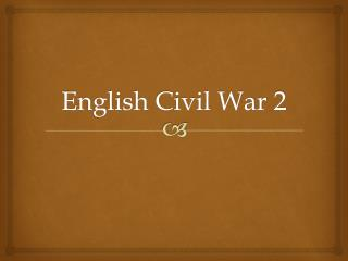 English Civil War 2
