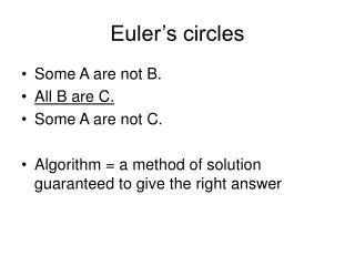 Euler's circles