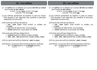 V6 – Les suffixes