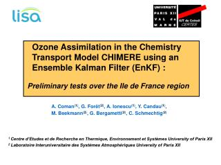 Ozone Assimilation in the Chemistry    Transport Model CHIMERE using an