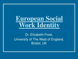 European Social Work Identity