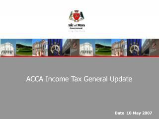 ACCA Income Tax General Update