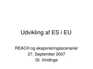 Udvikling af ES i EU