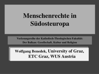 Menschenrechte in S�dosteuropa