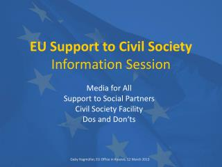 EU Support to Civil Society Information Session